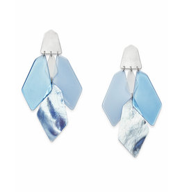 Kendra Scott Gracie Earring Silver Sky Blue Illusion