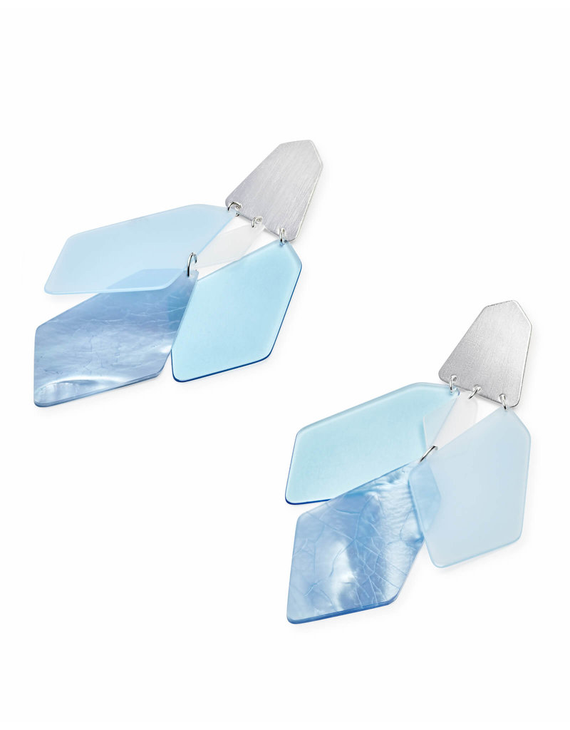 Kendra Scott Gracie Earring Silver Sky Blue Illusion