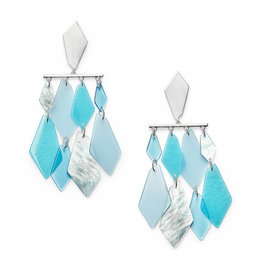 Kendra Scott Hanna Earrings Silver Sky Blue Illusion