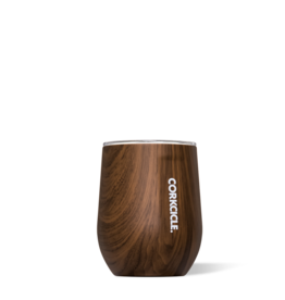 Corkcicle Corkcicle 12oz Stemless Wine Glass- Walnut Wood