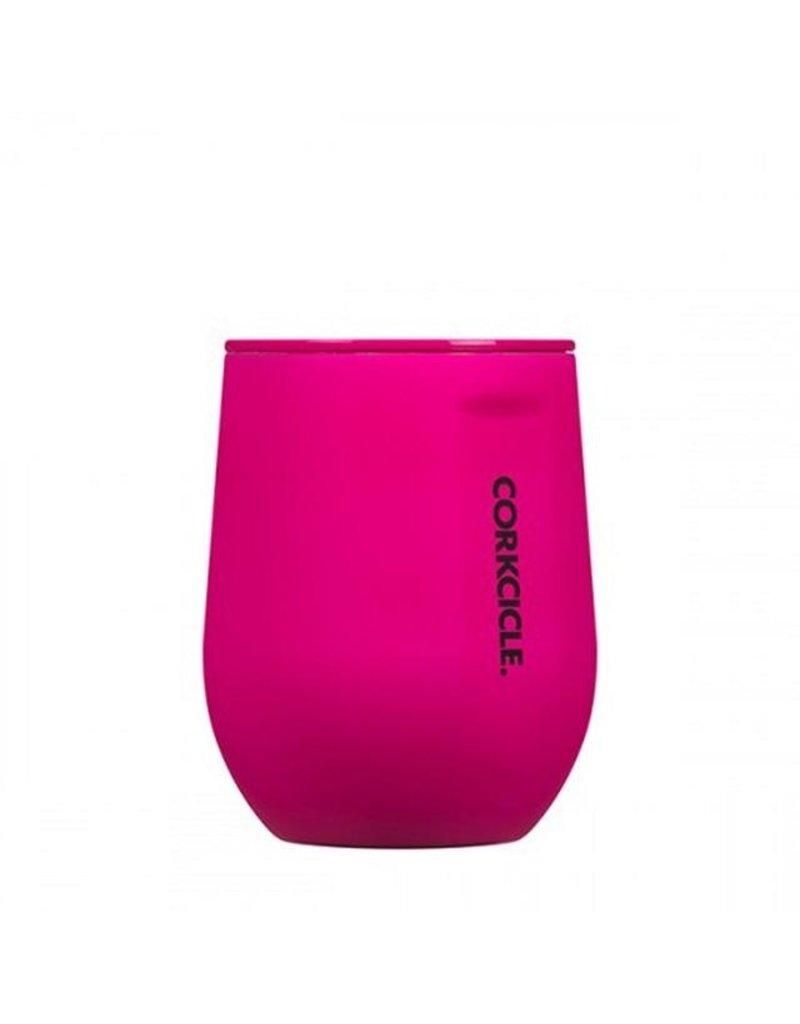 Corkcicle 12oz Stemless Wine Glass Neon Lights