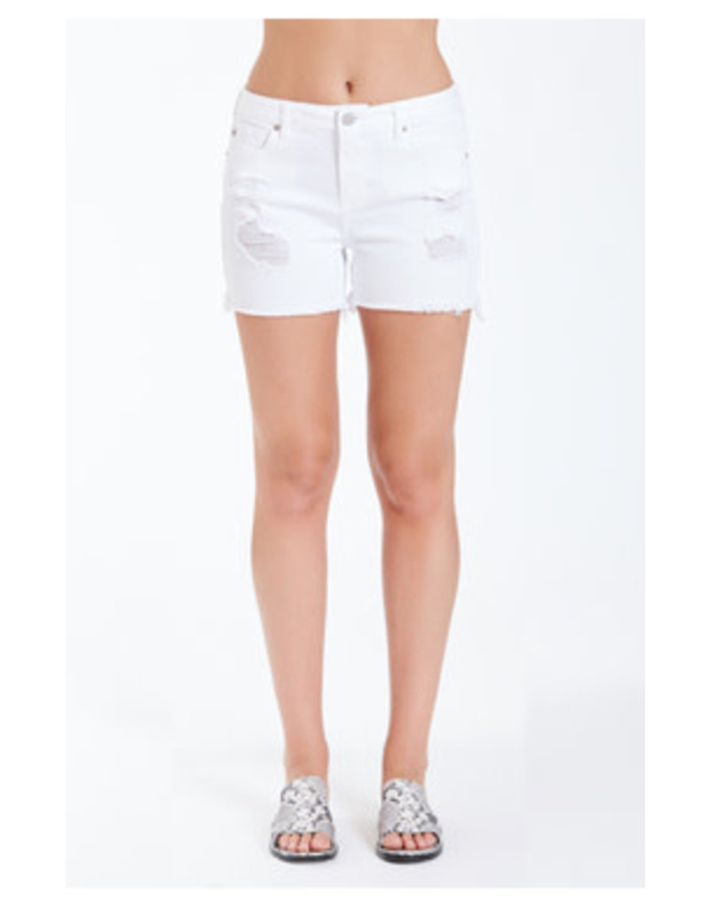 Dear John Gigi Highrise Shorts in Optical White