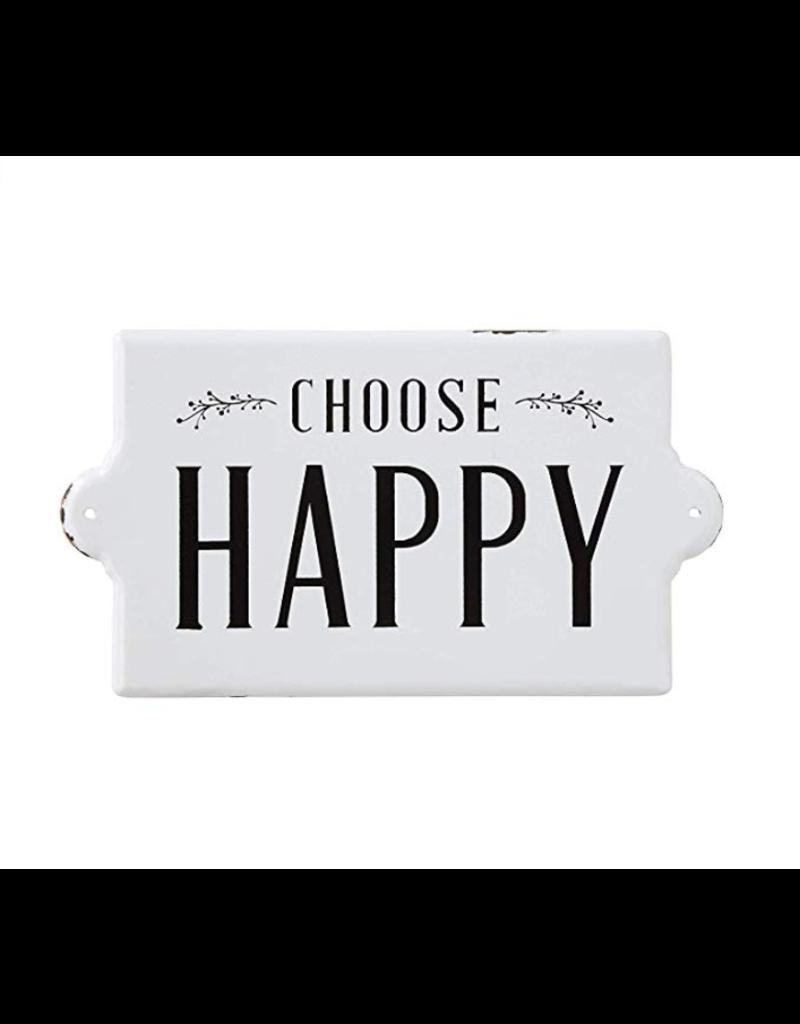 Choose Happy Enamel Sign