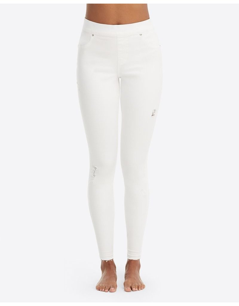 Spanx Distressed Skinny Jean White