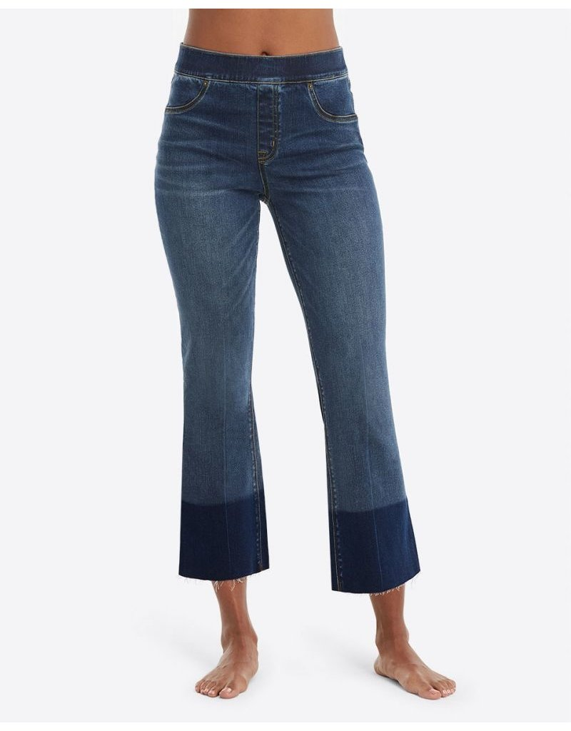 Spanx Cropped Flare Denim Medium Wash