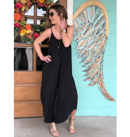 Z Supply Flared Jumpsuit Black