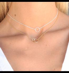 Gorjana Wilshire Charm Adjustable Necklace Silver