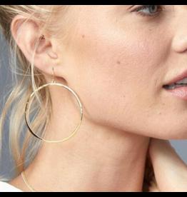 Gorjana G Ring Earrings Silver