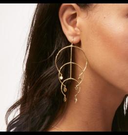 Gorjana Luca Arc Mobile Earrings Gold