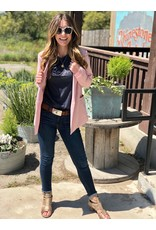 Blush Blazer Long w/ Front Pockets