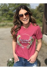 Amazing Grace Raspberry Tee