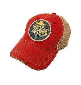 Metallic Texas Red Cap
