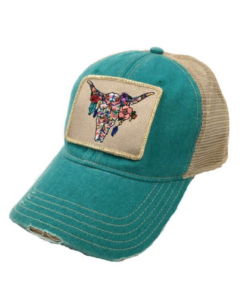 Boho Steerhead Jade Cap