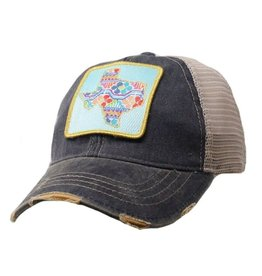 Patchwork Texas Navy Cap