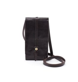 Hobo Token Crossbody in Black Leather