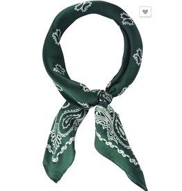 Vintage Paisley Print Neckerchief in Green