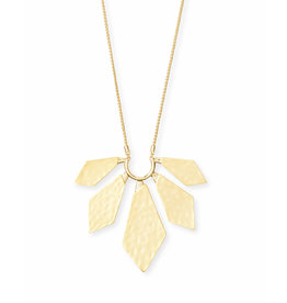 Kendra Scott Mari Necklace in Hammered Gold