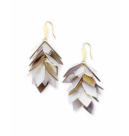 Kendra Scott Jenni Earring Gold Ivory Mix