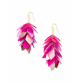 Kendra Scott Jenni Earring in Gold Pink Agate Mix