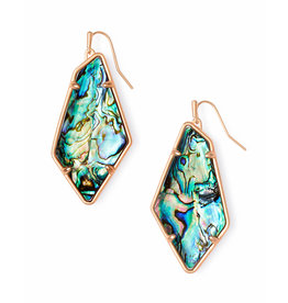 Kendra Scott Emilia Earrings Rose Gold Abalone
