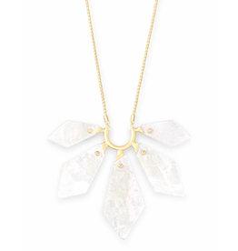 Kendra Scott Mari Necklace Gold Ivory Pearl