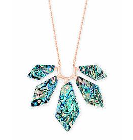 Kendra Scott Mari Necklace Rose Gold Abalone