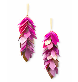 Kendra Scott Jennifer Earrings Gold Pink Mix