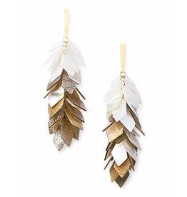 Kendra Scott Jennifer Earrings Gold Ivory Pearl Mix