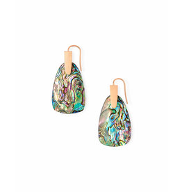 Kendra Scott Marty Earrings Rose Gold Abalone