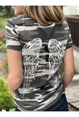 Angel Wing - His Feathers Tee Gray Camo