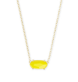Kendra Scott Ever Necklace in Yellow on Gold