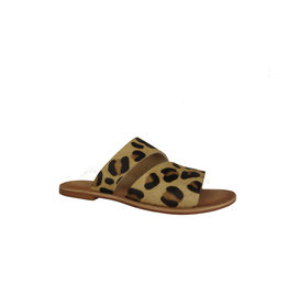Naughty Monkey Spirited Leopard Hair on Hide Sandals