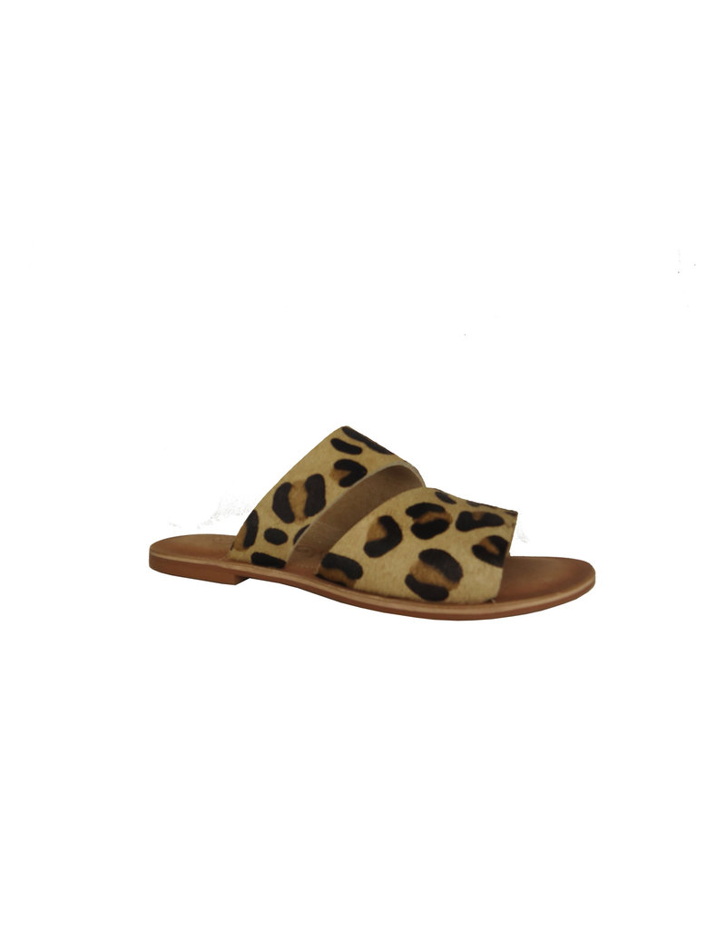 Naughty Monkey Spirited Leopard Hair on Hide Sandals