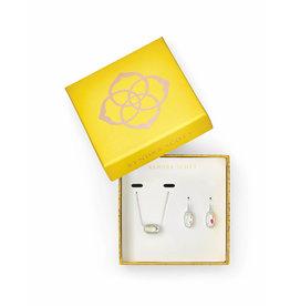Kendra Scott Gift Set Lee & Elisa Silver Dichroic Glass