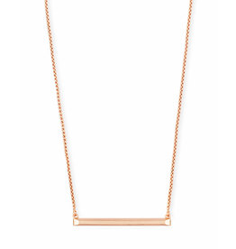 Kendra Scott Kelsey Necklace in Rose Gold Metal