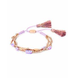 Kendra Scott Chantal Bracelet in Rose Gold Lavender Opal