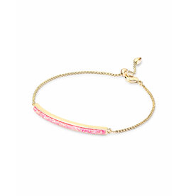 Kendra Scott Eloise Ann Bracelet in Gold Hot Pink Opal