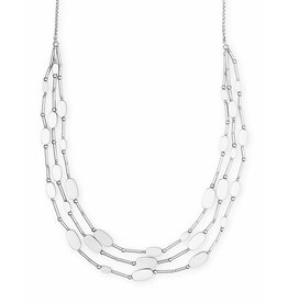 Kendra Scott Channing Necklace in Bright Silver Metal