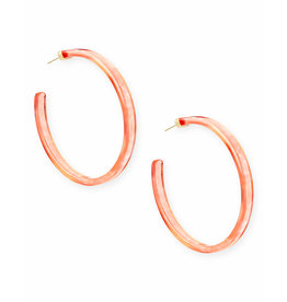 Kendra Scott Kash Earring in Gold Peach Acetate