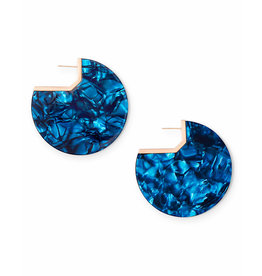 Kendra Scott Kai Earring in Rose Gold Navy Blue Acetate