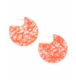 Kendra Scott Kai Earring in Gold Peach Acetate