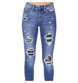 Judy Blue Camo Patch Skinny Jean +