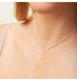 Gorjana Amara Solitaire Necklace - Silver