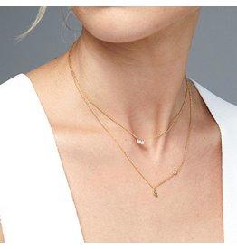 Gorjana Amara Solitaire Necklace - Gold