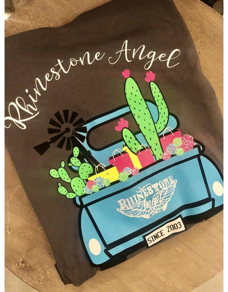 Rhinestone Angel Truck Shirt
