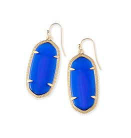 Kendra Scott Kendra Scott Elle Earrings in Cobalt on Gold