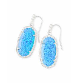 Kendra Scott Dani Earrings in Silver Ocean Opal