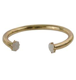 Gold Bracelet w/ Iridescent Jewel