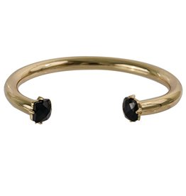 Gold Bracelet w/Black Jewel