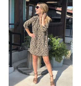 Taupe Leopard Print Dress